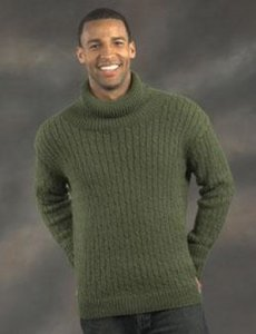 Plymouth DK Merino Superwash Men's Cabled Pullover Kit - Mens Sweaters