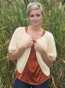 Plymouth Baby Alpaca Grande Crochet Cropped Cardigan Kit - Crochet for Adults