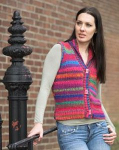 Plymouth Bazinga Woman's Shawl Collared Vest Kit - Vests