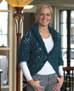 Plymouth DeAire Circle Shrug Kit - Women's Cardigans