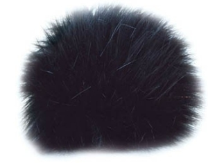 Universal Yarns Luxury Fur Pom-Pom - 101-01 Black (Discontinued)