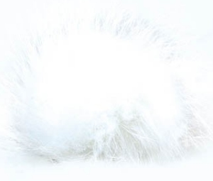 Universal Yarns Luxury Fur Pom-Pom - 101-02 White (Discontinued)