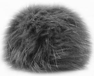Universal Yarns Luxury Fur Pom-Pom - 101-03 Grey (Discontinued)