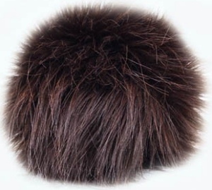 Universal Yarns Luxury Fur Pom-Pom - 102-04 Chocolate
