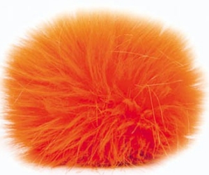 Universal Yarns Luxury Fur Pom-Pom - 105-10 Neon Orange (Discontinued)