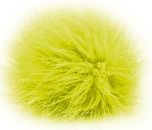 Universal Yarns Luxury Fur Pom-Pom - 105-11 Neon Yellow (Discontinued)