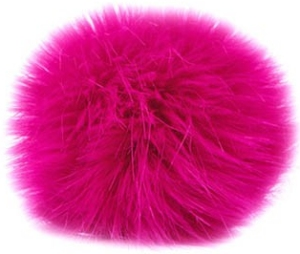 Universal Yarns Luxury Fur Pom-Pom - 105-12 Neon Pink (Discontinued)