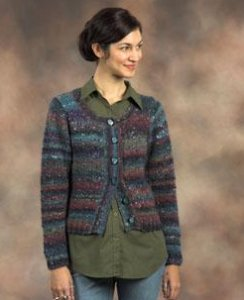 Plymouth Mushishi Eyelet Lace Cardigan Kit - Women's Cardigans