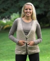 Plymouth Baby Alpaca Grande Tweed Vest with Pockets Kit - Vests