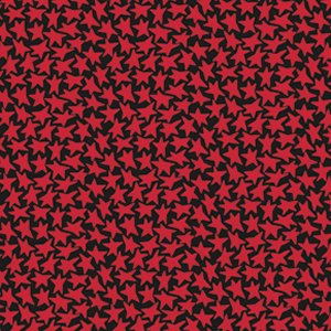 Luella Doss Fowl Play Fabric - Stars - Black