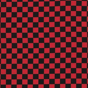 Luella Doss Fowl Play Fabric - Large Check - Red