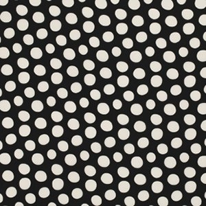 Luella Doss Fowl Play Fabric - Dots - Black