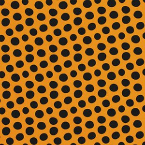 Luella Doss Fowl Play Fabric - Dots - Gold