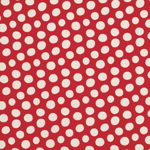 Luella Doss Fowl Play Fabric - Dots - Red