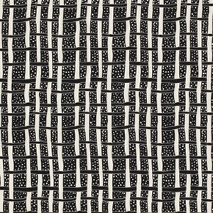Luella Doss Fowl Play Fabric - Plaid - Black