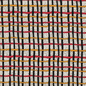 Luella Doss Fowl Play Fabric - Plaid - Red