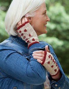 Rowan Fine Tweed Cranberry Mitts Kit - Hats and Gloves