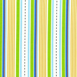 Michael Miller Fabrics Les Monsieurs Fabric - Racing Stripes - Multi
