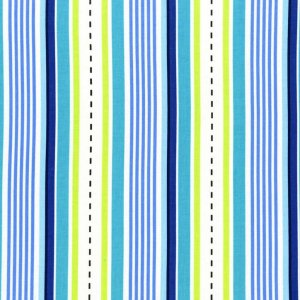 Michael Miller Fabrics Les Monsieurs Fabric - Racing Stripes - Blue