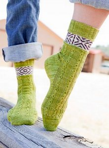 Malabrigo Sock Claud Socks Kit - Socks