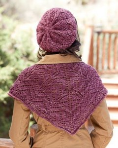 Madelinetosh Tosh Merino Eze Shawlette and Beret Kit - Scarf and Shawls