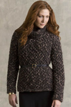 Tahki Stacy Charles Jackson Emerson Texture-Stitch Turtleneck  Kit - Women's Pullovers