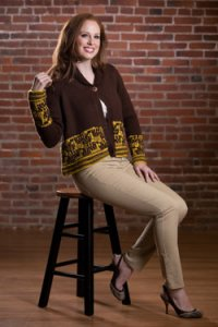 Plymouth Jacket & Cardigan Patterns - 2577 Woman's Jumping Deer Cardigan Pattern