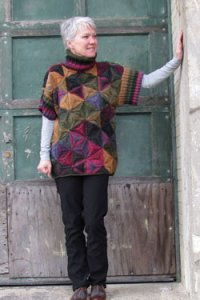 Plymouth Sweater & Pullover Patterns - 2593 Woman's Modular Pullover Pattern