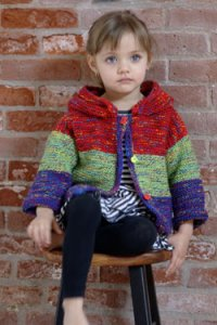 Plymouth Baby & Children Patterns - 2621 Child's Hoodie Cardi Pattern