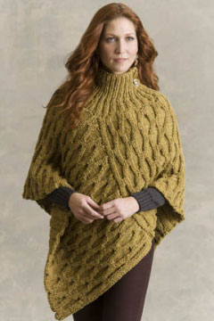 Tahki Stacy Charles Tara Tweed Welty Honeycomb Poncho Kit - Women's Accessories