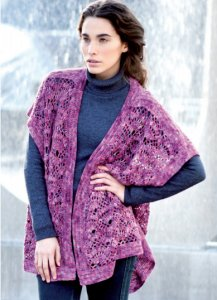 Araucania Nuble Sleeveless Cardigan Kit - Crochet for Adults
