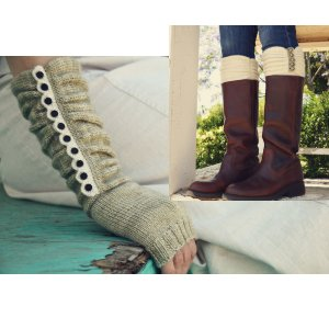 Pam Powers Knits Patterns - Austin Boot Liners & Mitts Pattern