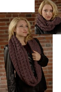 Plymouth Women's Accessory Patterns - 2606 Infinity Cowl Pattern