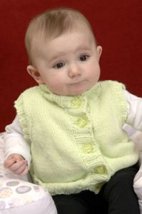 Plymouth Baby & Children Patterns - 2571 Baby Mock Turtleneck Vest Pattern