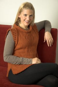 Plymouth Adult Vest Patterns - 2576 Woman's Cap Sleeve Pullover Pattern