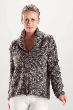 Trendsetter Bacio & Dune Cabled Shawl Collar Cardigan Kit - Women's Cardigans