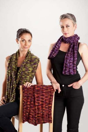 Trendsetter Bacio Ribbed Scarf or Wrap Kit - Scarf and Shawls