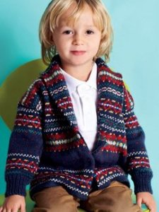 Debbie Bliss Baby Cashmerino 4 Fairisle Jacket Kit - Baby and Kids Cardigans