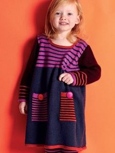 Debbie Bliss Baby Cashmerino 4 Striped Dress Kit - Baby and Kids Pullovers