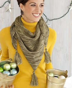 Koigu KPPPM Tasseled Shawl Kit - Scarf and Shawls