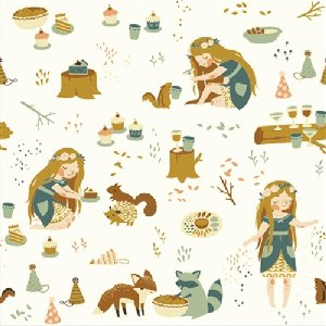 Birch Fabrics Fort Firefly Fabric - Field Party