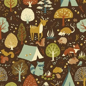 Birch Fabrics Fort Firefly Fabric - Critter Camp (Discontinued)