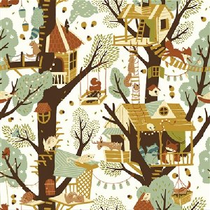 Birch Fabrics Fort Firefly Fabric - Tree Fort (Discontinued)