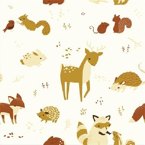 Birch Fabrics Fort Firefly Fabric - Critters