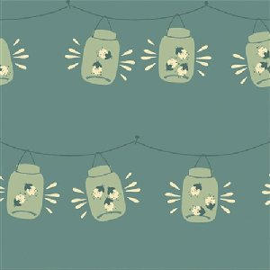 Birch Fabrics Fort Firefly Fabric - Jars - Blue