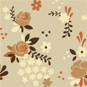 Birch Fabrics Fort Firefly Fabric - Rose Garden - Taupe