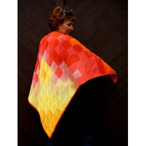 Knitting at Knoon Patterns - Sunset Shawl Pattern