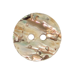 Blue Moon Button Art Shell Buttons - Round Abalone 5/8""