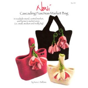 Noni Patterns - Cascading Fuchsias Market Bag Pattern