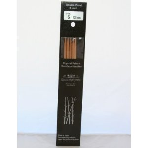 "Crystal Palace Bamboo Double Points Needles - US 8 - 6"" Needles"